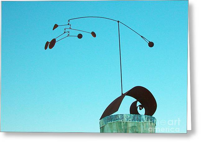 Sandy Calder Greeting Cards - Centered Greeting Card by Tommy  Urbans