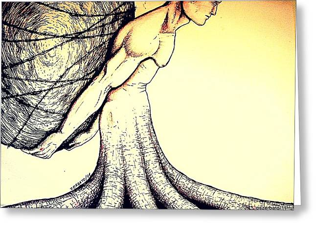 Enslave Greeting Cards - Central Beliefs Of Helplessness Greeting Card by Paulo Zerbato