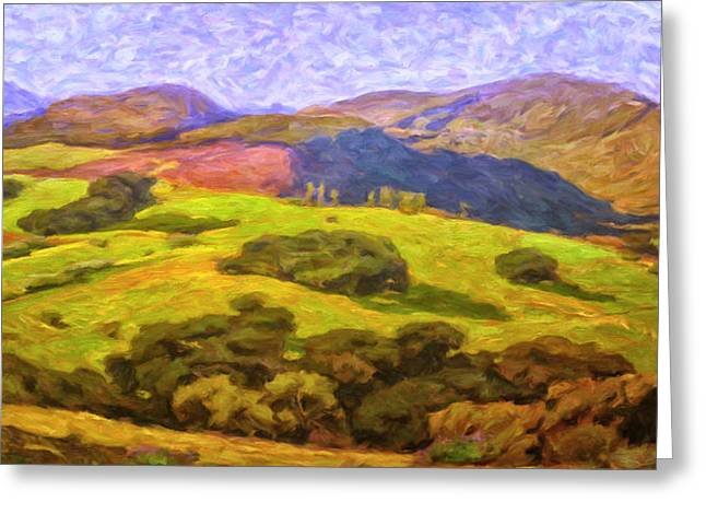 Atascadero Greeting Cards - Central Coast Wine Country Greeting Card by Dominic Piperata