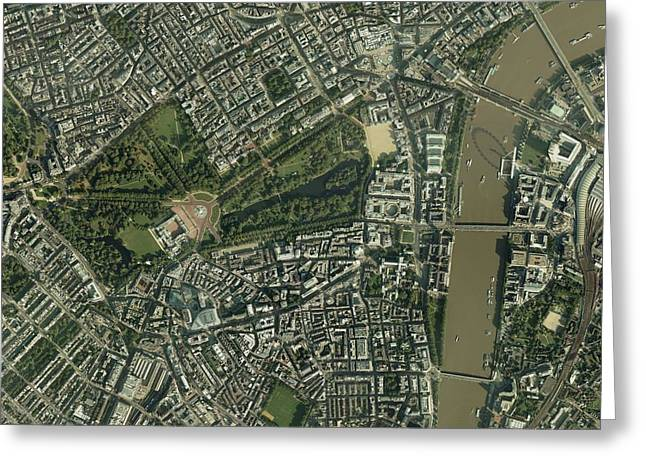 Trafalgar Greeting Cards - Central London, Aerial View Greeting Card by Getmapping Plc