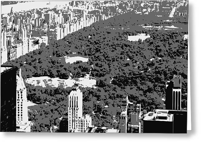 Capital Of The Universe Greeting Cards - Central Park BW3 Greeting Card by Scott Kelley