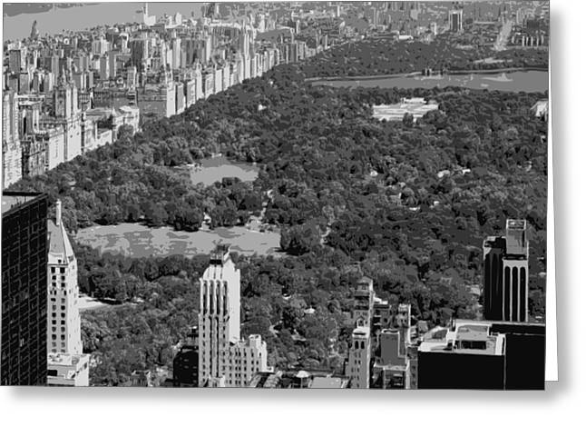 Capital Of The Universe Greeting Cards - Central Park BW6 Greeting Card by Scott Kelley