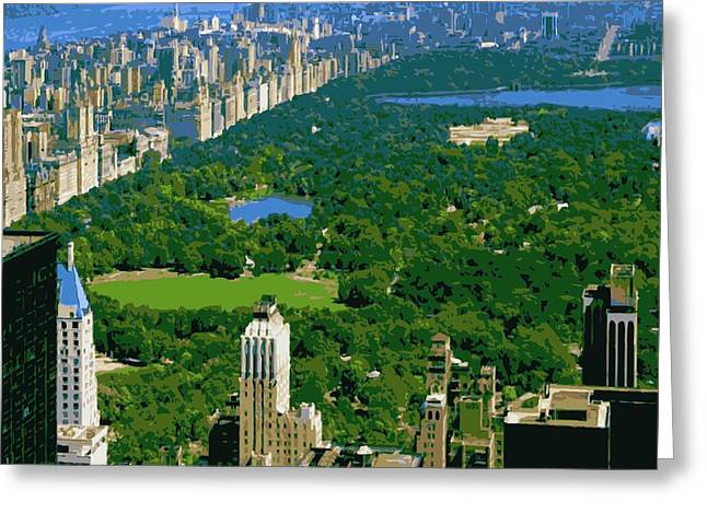 True Melting Pot Greeting Cards - Central Park Color 16 Greeting Card by Scott Kelley