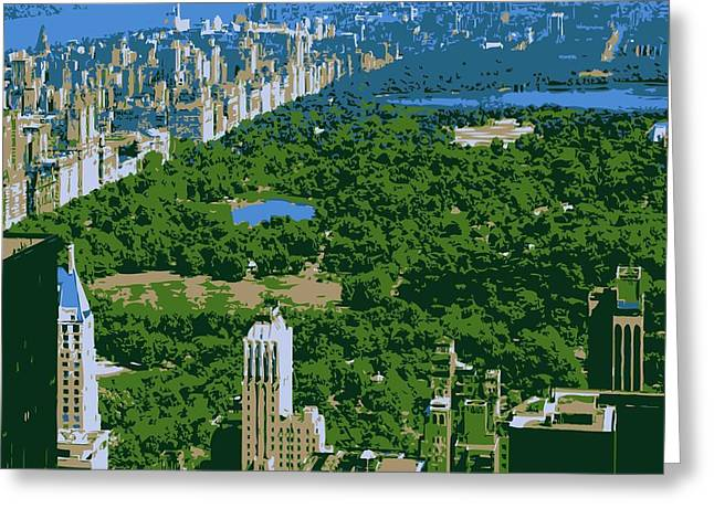 Capital Of The Universe Greeting Cards - Central Park Color 6 Greeting Card by Scott Kelley