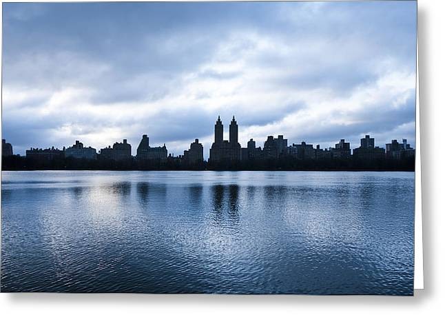 Busy Life Greeting Cards - Central Park Lake Greeting Card by Svetlana Sewell