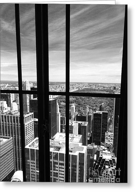 Greeting Cards - Central Park Window Greeting Card by Holger Ostwald