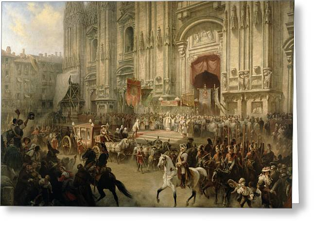 Processions Greeting Cards - Ceremonial Reception Greeting Card by Adolf Jossifowitsch Charlemagne
