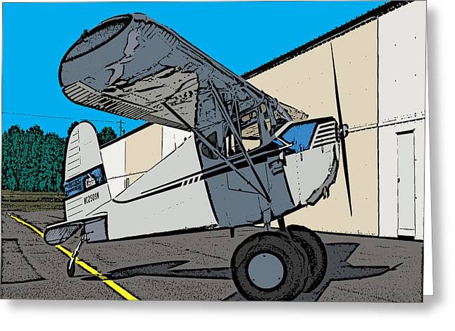 Aviation Caricatures Greeting Cards - Cessie Greeting Card by Steven Richardson