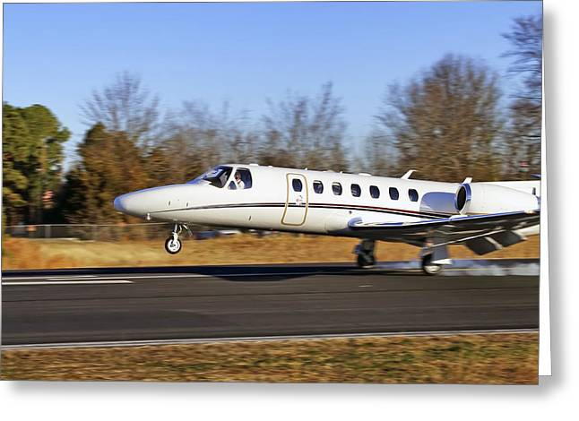 Conway Arkansas Greeting Cards - Cessna Citation Touchdown Greeting Card by Jason Politte