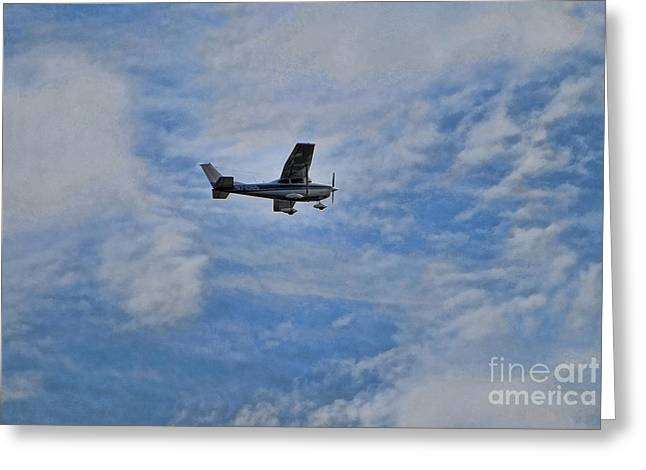 Cessna Greeting Cards - Cessna in Flight Greeting Card by Paul Ward