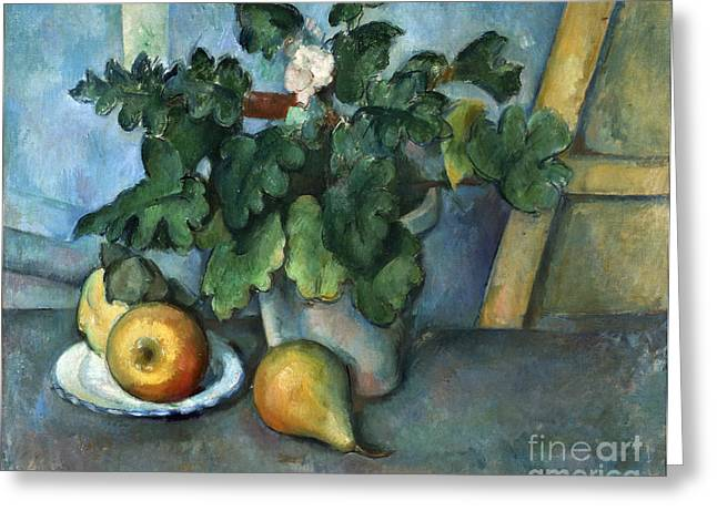 French Pears Greeting Cards - CEZANNE: STILL LIFE, c1888 Greeting Card by Granger