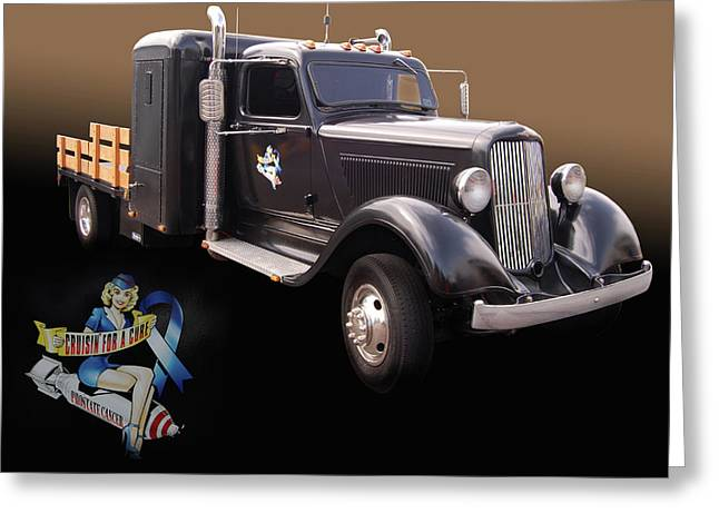Cruisin For A Cure Greeting Cards - CFAC 36 Dodge Greeting Card by Bill Dutting