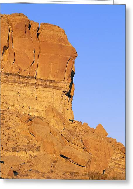 Chaco Canyon Greeting Cards - Chaco Canyon Red Rocks Greeting Card by Rich Reid