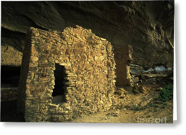 Chaco Canyon Greeting Cards - Chaco Canyon Treasure Greeting Card by Bob Christopher