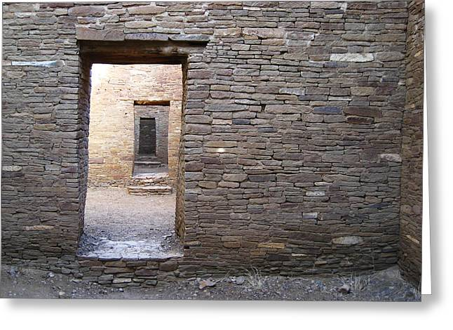 Chaco Canyon Greeting Cards - Chaco Doorways Greeting Card by Matthew Parks