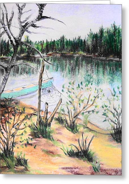 Web Pastels Greeting Cards - Chain Lakes Duck Mountain MB Greeting Card by Janice Robertson