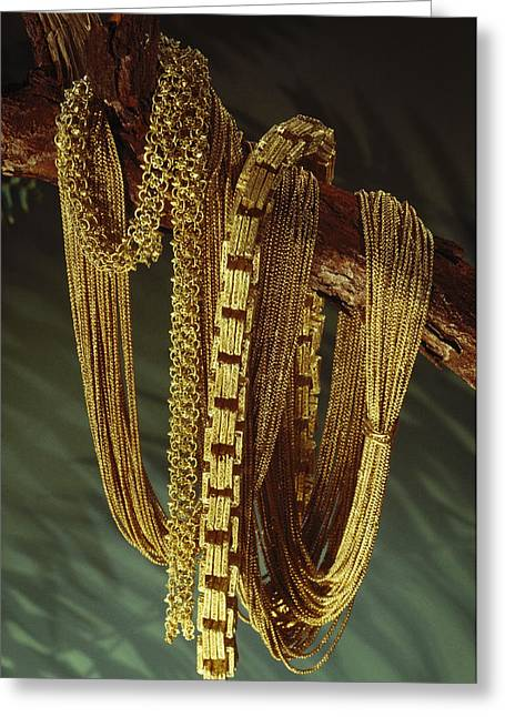 Antiquities And Artifacts Greeting Cards - Chains From A Spanish Shipwreck Greeting Card by Sisse Brimberg