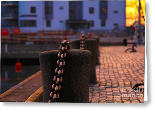 Decorativ Photographs Greeting Cards - Chains Greeting Card by Miso Jovicic