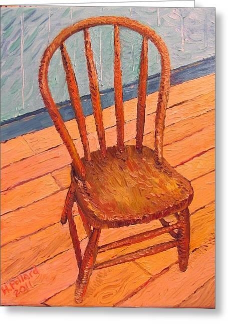 Herschel Pollard Greeting Cards - Chair in my Studio Greeting Card by Herschel Pollard