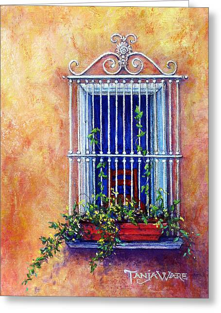 Iron Pastels Greeting Cards - Chair in the Window Greeting Card by Tanja Ware