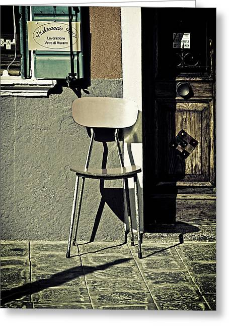 Paving Greeting Cards - Chair Greeting Card by Joana Kruse