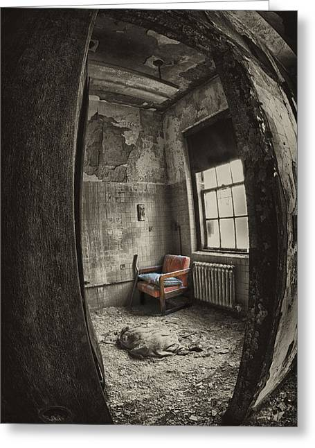 Best Sellers -  - Psychiatric Greeting Cards - Chair Greeting Card by Roni Chastain