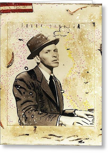 Frank Sinatra Posters Greeting Cards - Chairman of the Board Greeting Card by Todd Monaghan