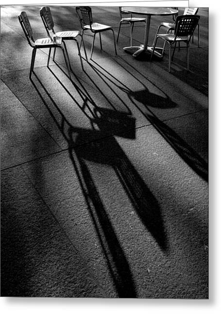 Chairs And Shadows Greeting Card by Steven Ainsworth