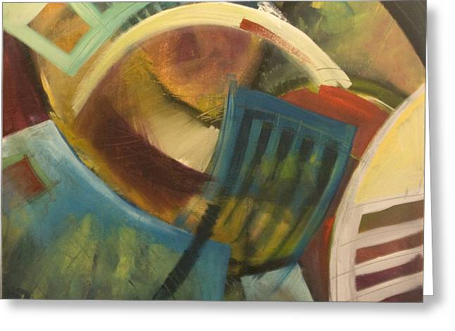 Ladder Back Chairs Greeting Cards - Chairs Around The Table Greeting Card by Tim Nyberg