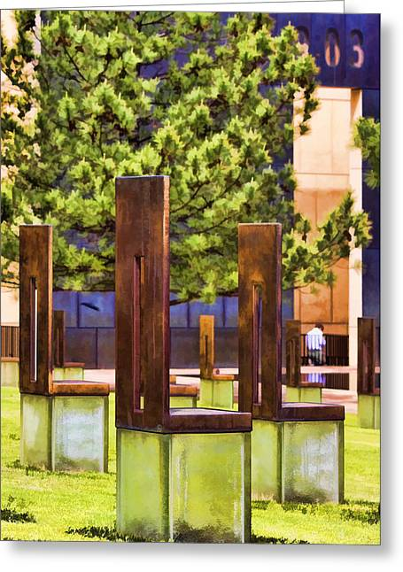 Empty Chairs Greeting Cards - Chairs at the Gate Greeting Card by Ricky Barnard