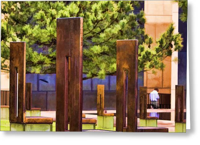 Chairs at the Gate Greeting Card by Ricky Barnard