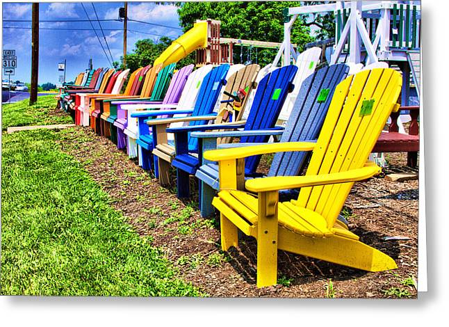 Lawn Chair Greeting Cards - Chairs for Sale Greeting Card by Trudy Wilkerson