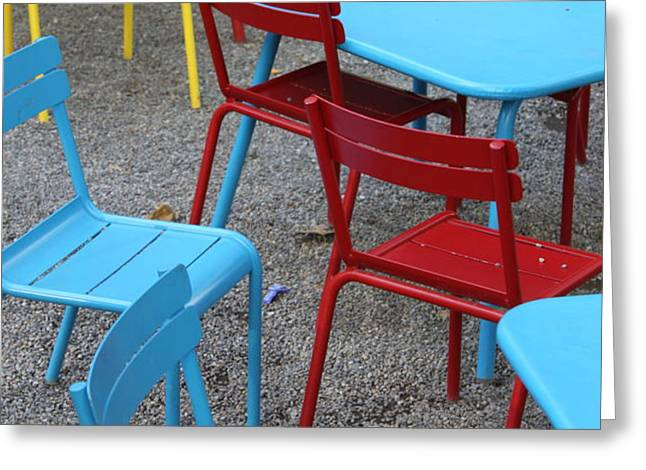 Chairs in Bryant Park Greeting Card by Lauri Novak