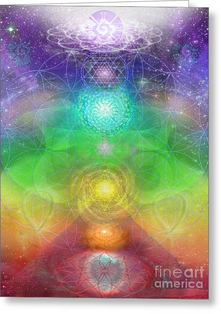 Healing Journey Greeting Cards - Chakra Journey 2012 Greeting Card by Jahsah Ananda