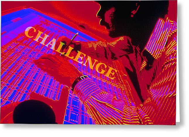 Challenge Greeting Card by Jerry McElroy