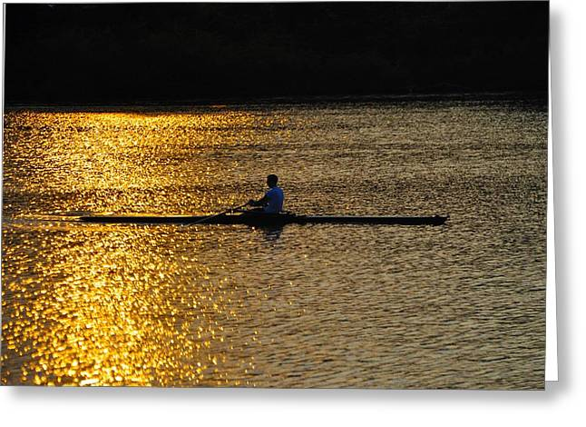 Rowboat Digital Art Greeting Cards - Challenge Yourself Greeting Card by Bill Cannon