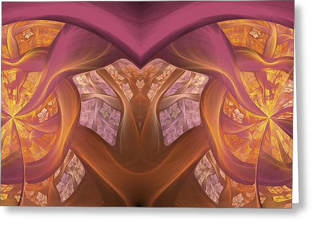 Math Greeting Cards - Chambers Of The Heart Greeting Card by Georgiana Romanovna