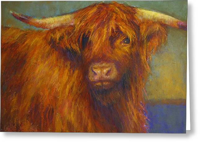 Cattle Pastels Greeting Cards - Chamomile Greeting Card by Susan Williamson