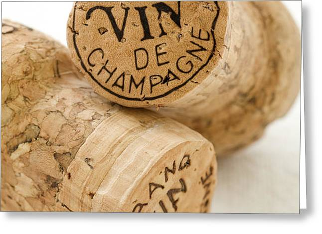 Champagne corks Greeting Card by Frank Tschakert