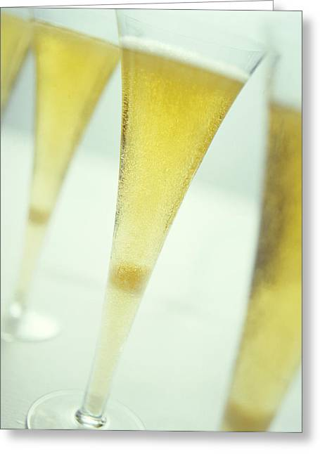 Sparkling Wine Greeting Cards - Champagne Greeting Card by David Munns