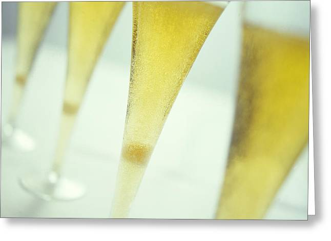 Champagne Greeting Card by David Munns