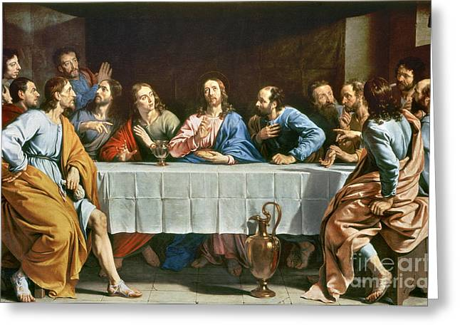 Last Supper Greeting Cards - Champaigne: Last Supper Greeting Card by Granger
