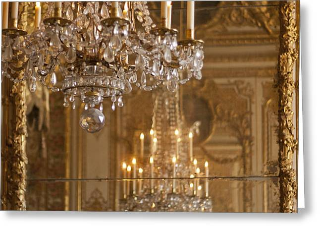 Chandelier at Versailles Greeting Card by Nomad Art And  Design