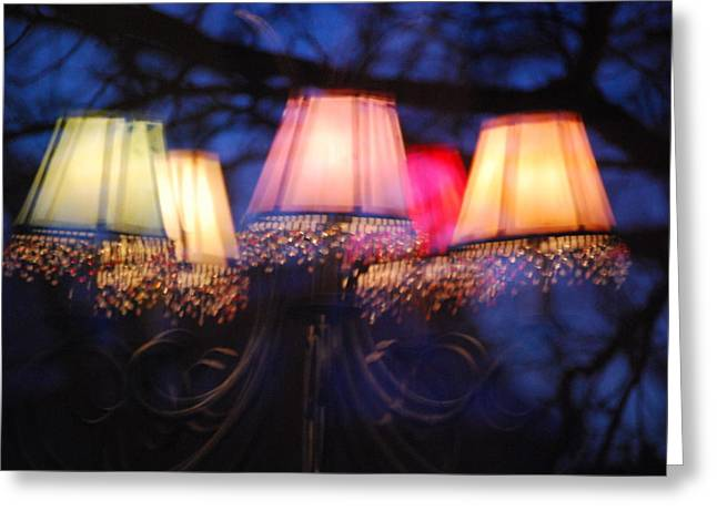 Chandelier Greeting Cards - Chandelier in the Trees Greeting Card by Peter  McIntosh