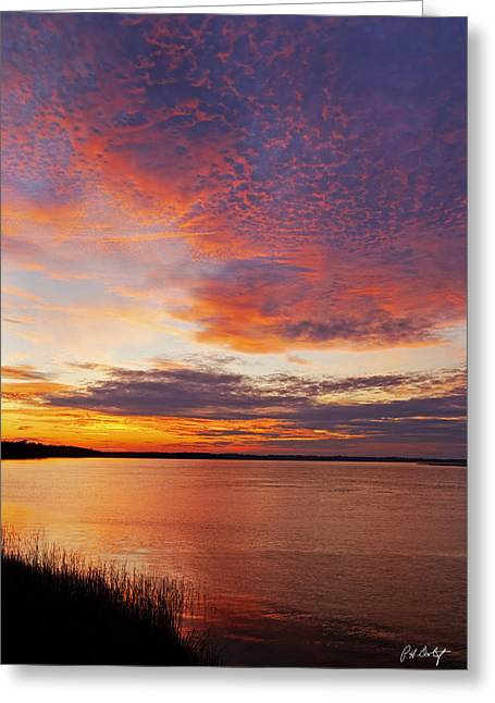 Beaufort County Greeting Cards - Changing Clouds Greeting Card by Phill  Doherty
