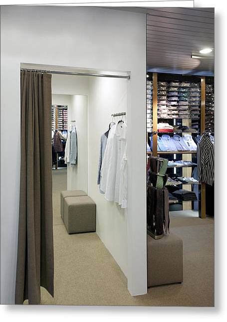 Fitting Room Greeting Cards - Changing Rooms Fitting Rooms Greeting Card by Jaak Nilson