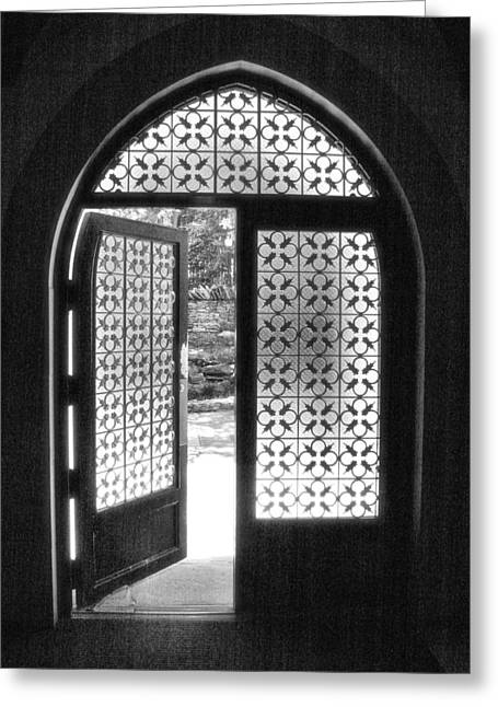Bloomington Greeting Cards - Chapel Door Greeting Card by Steven Ainsworth
