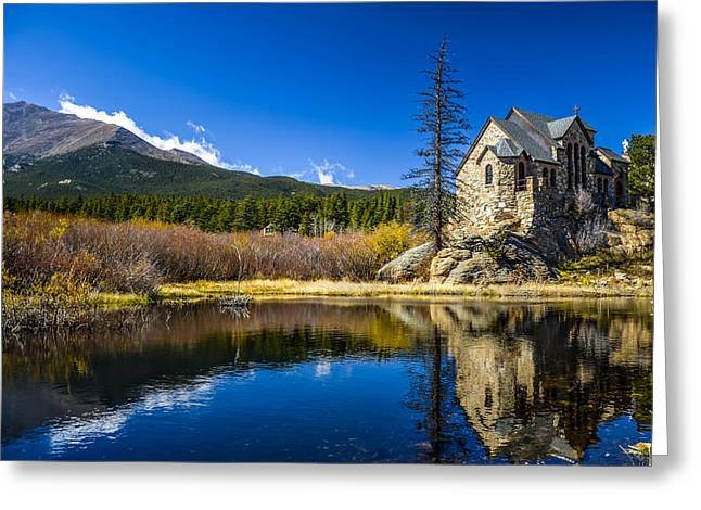 Chapel On The Rock Photographs Greeting Cards - Chapel on the Rock Greeting Card by Mark Bowmer