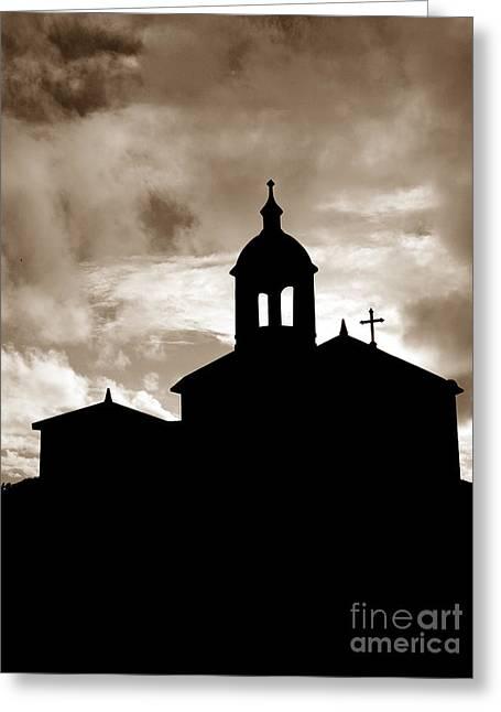 Chapel Silhouette Greeting Card by Gaspar Avila