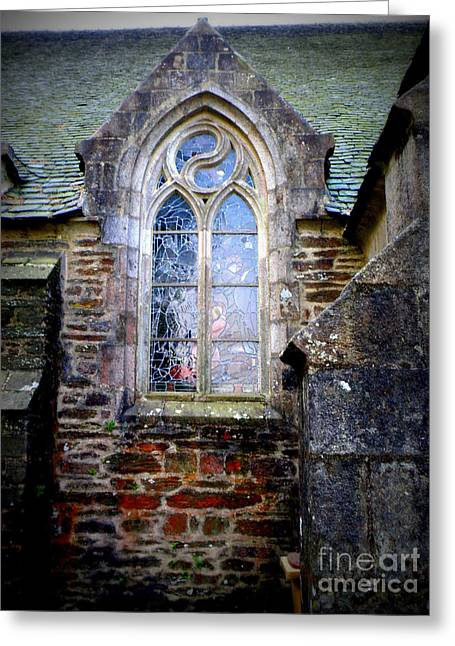 Lainie Wrightson Greeting Cards - Chapel Window Greeting Card by Lainie Wrightson